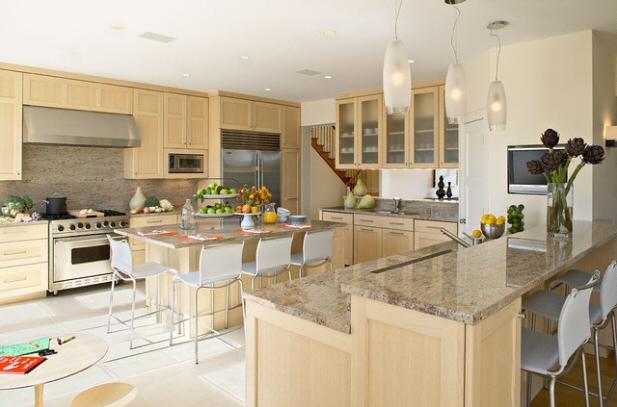 cuisine bar classique fonc en marbre. Black Bedroom Furniture Sets. Home Design Ideas
