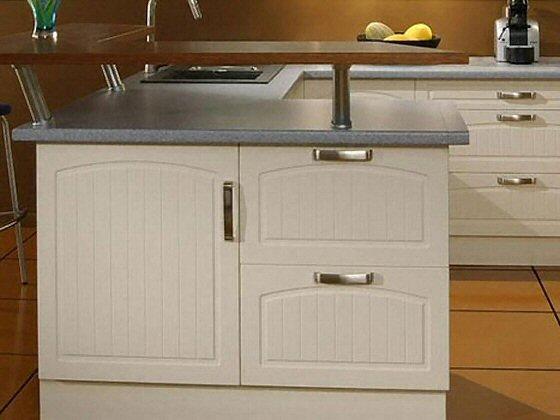cuisine bar classique fonc en stratifi. Black Bedroom Furniture Sets. Home Design Ideas