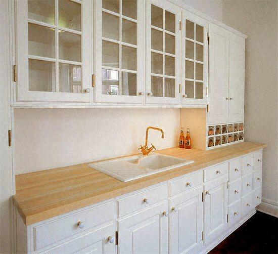 Cuisine plan de travail de cuisine classique clair en bois massif Cuisine classique en bois massif