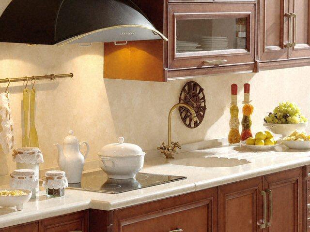 Cuisine - Plan de travail de cuisine classique, clair, en quartz -  4