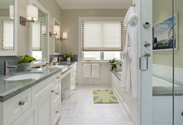 salle de bain plan de travail de salle de bain classique clair en granit. Black Bedroom Furniture Sets. Home Design Ideas