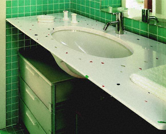 salle de bain plan de travail de salle de bain classique clair en quartz. Black Bedroom Furniture Sets. Home Design Ideas