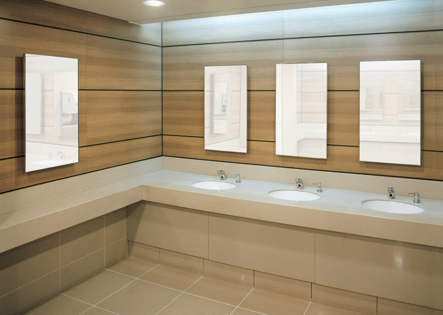 salle de bain plan de travail de salle de bain moderne clair en quartz. Black Bedroom Furniture Sets. Home Design Ideas