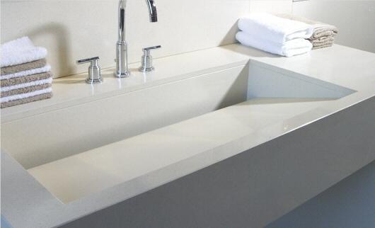salle de bain plan de travail de salle de bain moderne clair en quartz. Black Bedroom Furniture Sets. Home Design Ideas