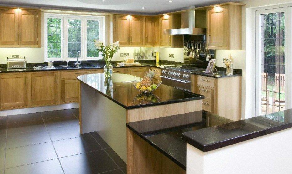cuisine plan de travail en lot de cuisine classique fonc en granit - Cuisine Classique