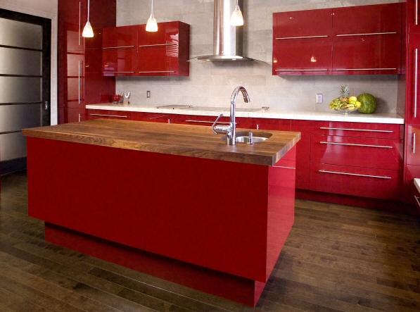 Cuisine plan de travail en lot de cuisine moderne clair - Cuisine bois massif moderne ...