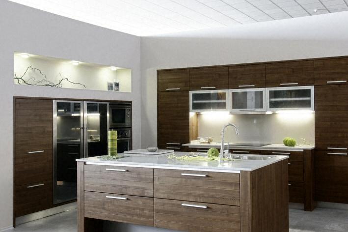 Cuisine plan de travail en lot de cuisine moderne clair en quartz for Plan cuisine moderne