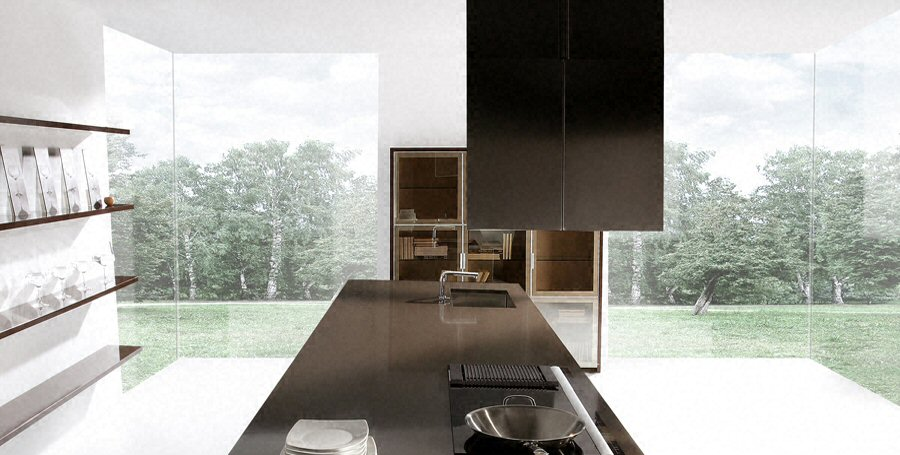 cuisine plan de travail en lot de cuisine moderne fonc. Black Bedroom Furniture Sets. Home Design Ideas