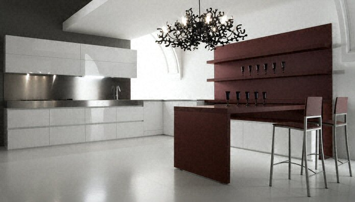 cuisine plan de travail en lot de cuisine moderne fonc en stratifi. Black Bedroom Furniture Sets. Home Design Ideas