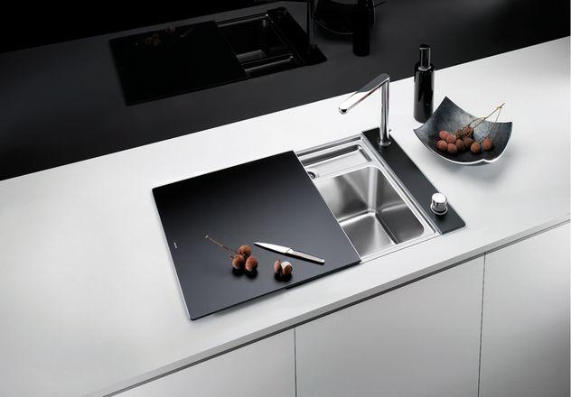 evier blanco statura 6 if crystal noir mon espace cuisine. Black Bedroom Furniture Sets. Home Design Ideas