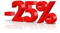 Promotion de 25% sur les marques d'équipement de cuisine