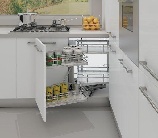 Top amenagement meuble d angle fond melamine blanc version for Meuble cuisine basique