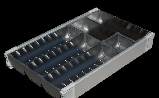 zenkitchen aménagement tiroir inox pour meuble de 450 mm - mon