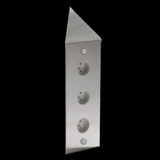 zenkitchen bloc acier d'angle finition inox brossé 3 prises (avec ... - Meuble Cuisine Inox Brosse