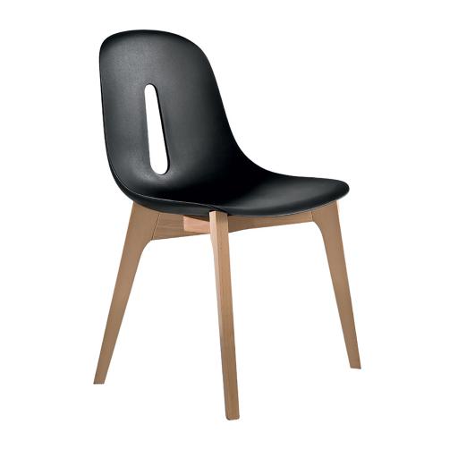 chaise noir et bois chaise en velours et bois noir barocco maisons du monde bjorn chaise coque. Black Bedroom Furniture Sets. Home Design Ideas