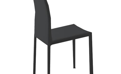 Chaise cuisine noir 2 chaises de cuisine salon salle for Chaise de cuisine en cuir noir