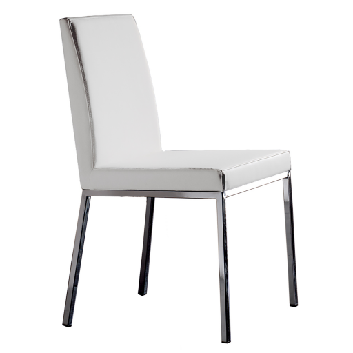 Chaise Simili Cuir Blanc Maison Design