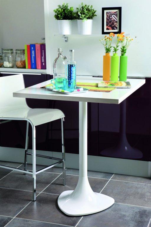 Platine pour fixer un plateau en verre pour pied d75 et d85 - Fixer credence en verre ...