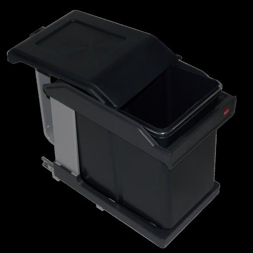 Poubelle 1 bac 20l ouverture automatique pour meuble de 400mm - Poubelle sous evier ouverture automatique ...