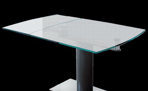 Table en verre transparent conceptions de maison - Credence en verre transparent cuisine ...