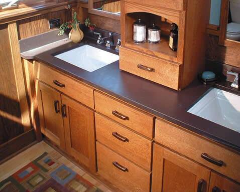 Ardoise pour plan de travail de cuisine et salle de bain for Ardoise de cuisine