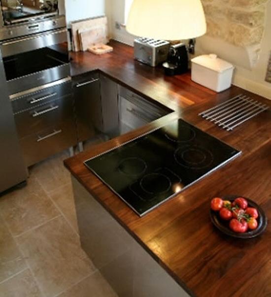 Plan de travail en bois massif pour cuisine et salle de bain for Plan de travail en bois