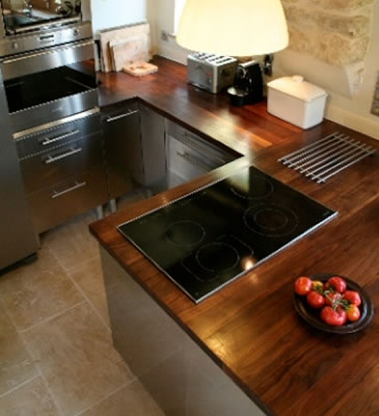 Plan de travail cuisine bois massif valdiz for Cuisine integree bois massif