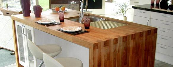 plan de travail bois massif cuisine et salle de bain. Black Bedroom Furniture Sets. Home Design Ideas