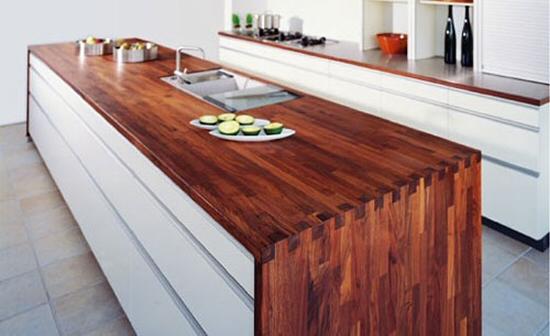 Plan de travail bois massif cuisine et salle de bain - Plan de travail imitation bois ...