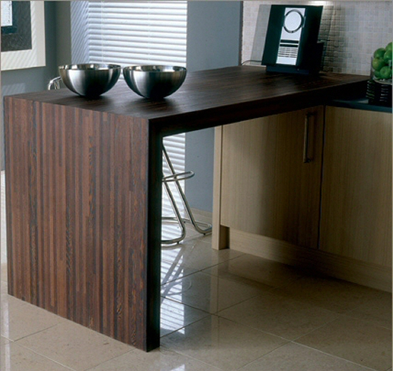 Plan de travail bois massif cuisine et salle de bain for Fixer un plan de travail cuisine