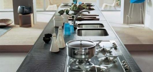 Comptoirs de cuisine comptoirs de cuisines - Cuisine rouge plan de travail noir ...